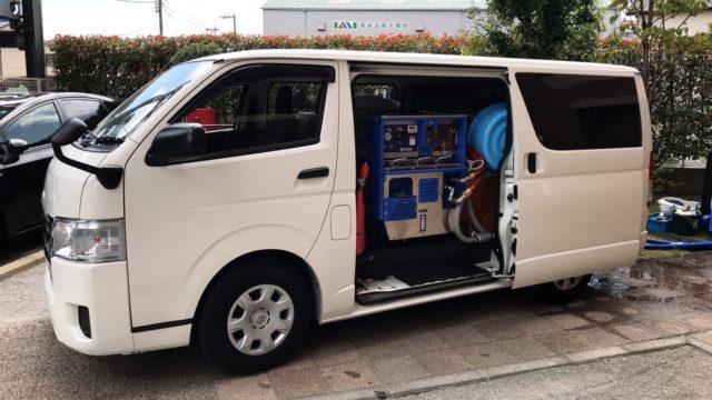 排水管高圧洗浄車