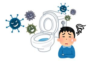 トイレ異臭の図