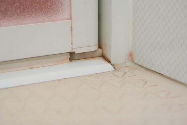 ピンクカビ(水垢)の写真