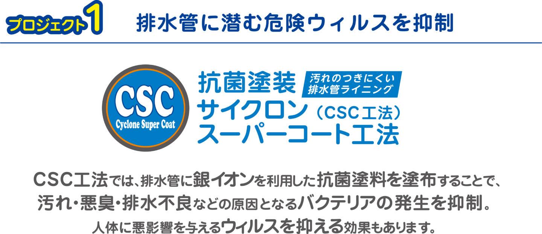 CSC工法排水管に潜む危険ウイルスを抑制