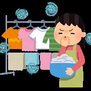 洗濯物から異臭の図