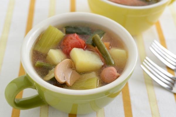 硬水で煮込んだ野菜の写真