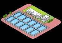 下水処理場の図