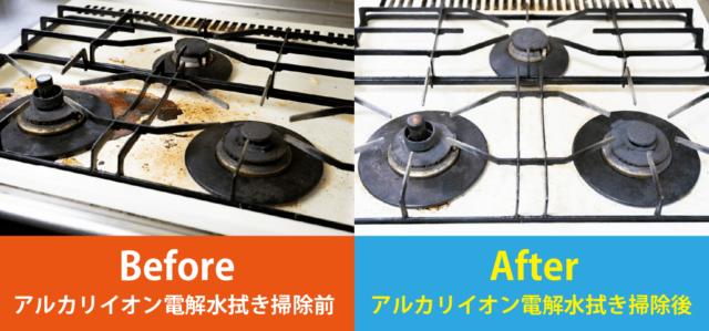 強アルカリイオン電解水の洗浄力検証写真