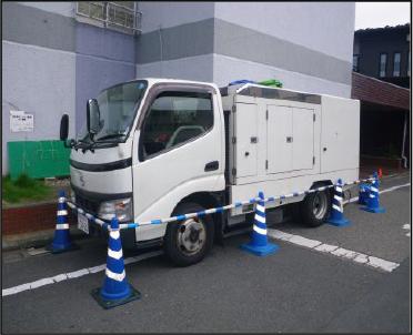 ①高圧洗浄車